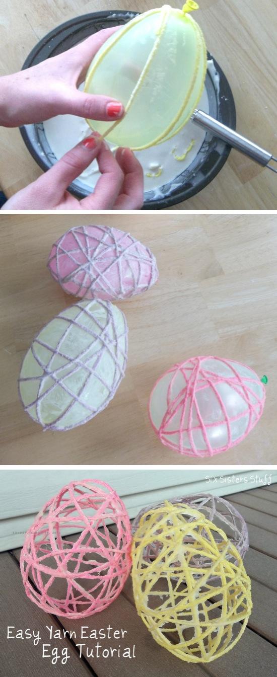Yarn Easter Egg Tutorial | Easter Crafts