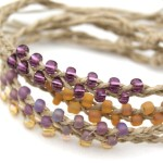 Braided Beaded Hemp Bracelet