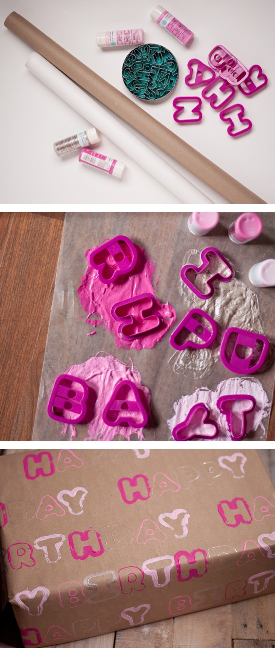 Cookie Cutter Wrapping Paper | Craft By Photo