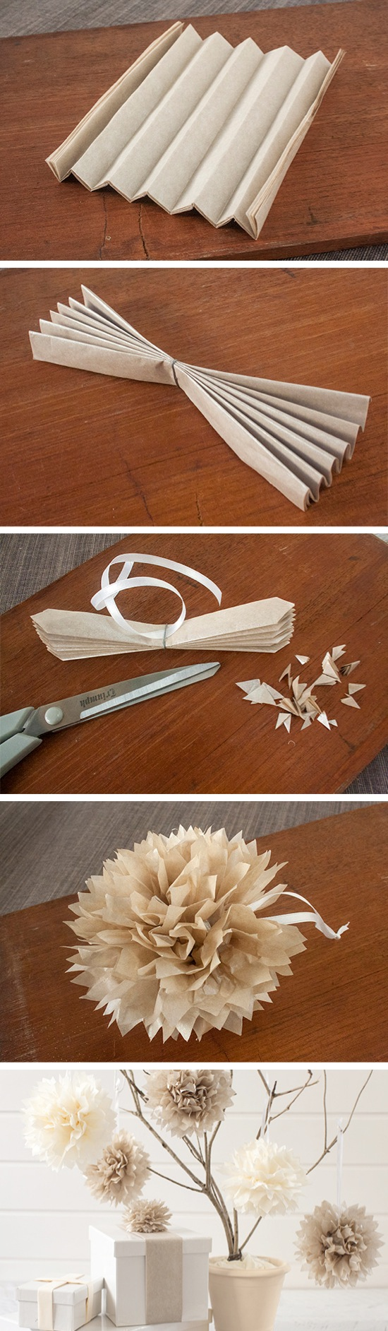 Easy DIY Tissue Paper Pom Poms   Craft By Photo