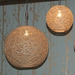 DIY Hanging Hemp Lamp