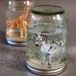 Mason Jar Glitter Globe
