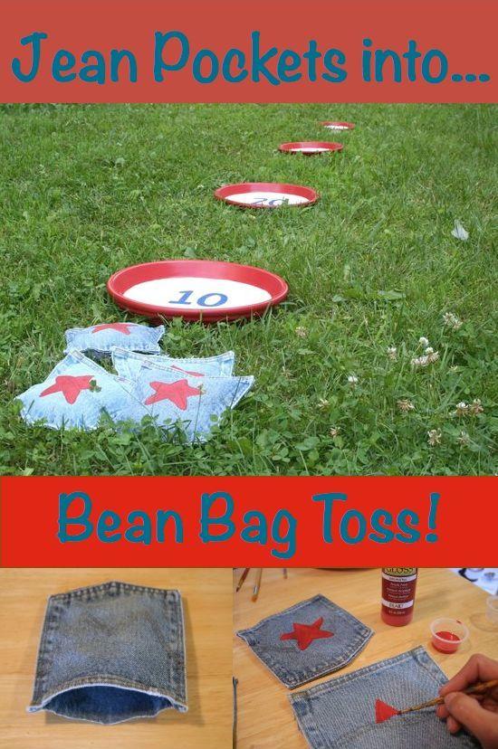 Jean Pocket Bean Bag Toss