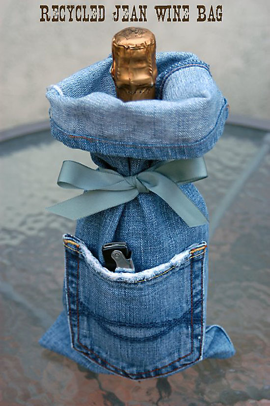 Denim-Wine-Gift-Bag-Made-From-Recycled-Jeans