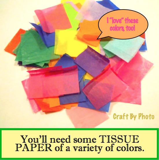 Tissue paper slide