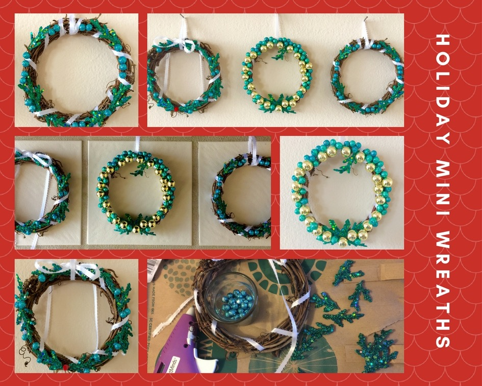 Collage of smaller holiday wreaths