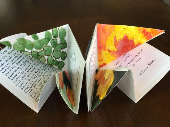 Book partially folded