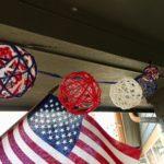 Yarn String Lights for July 4th